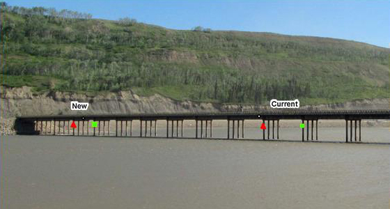 Navigation channel at Site C.