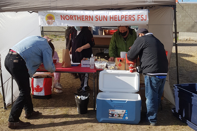 Northern Sun Helpers provide meals to vulnerable residents in FSJ.