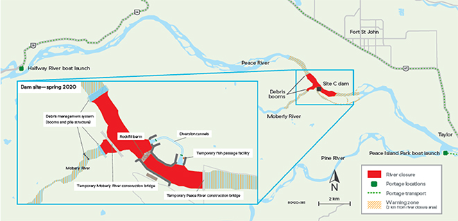 River closure map