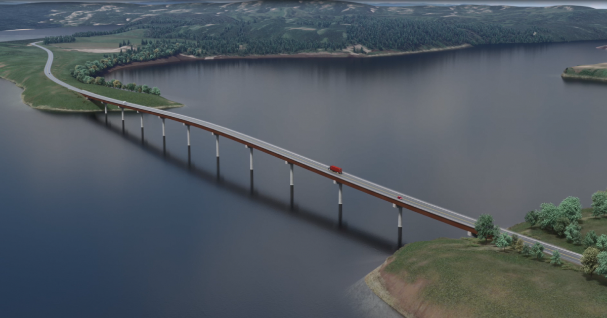 Rendering of the new Highway 29 realignment at Halfway River