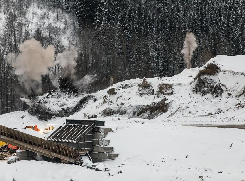 Blasting at West Pine Quarry (December 2017)