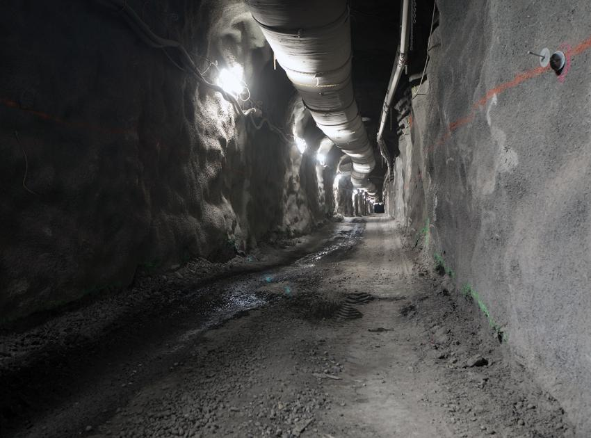 Drainage tunnel on the south bank (March 2018)