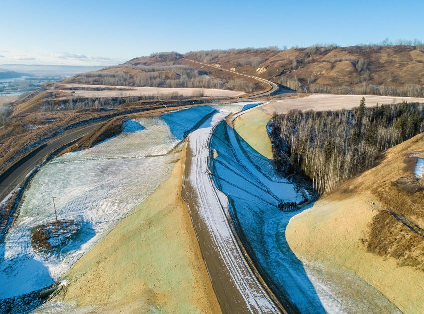 The portion of Highway 29 at Cache Creek West is four kilometres long and will be paved by July 2020. Combined, the Cache Creek highway segments total 8.6 kilometres. (December 2019)