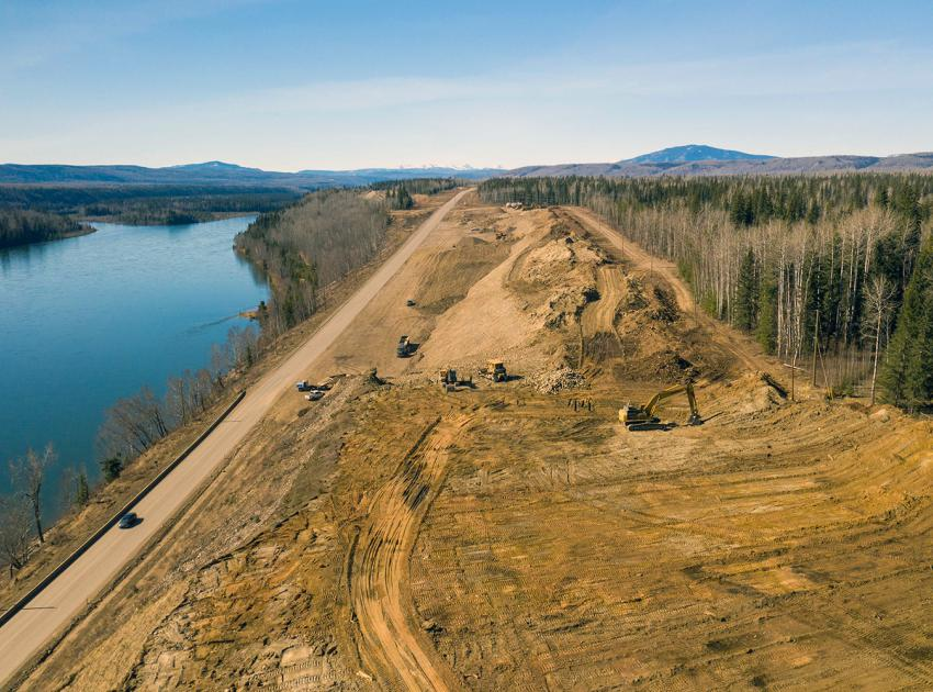The west end of the Lynx Creek Highway 29 realignment, will eventually re-join the existing highway. (April 2021)