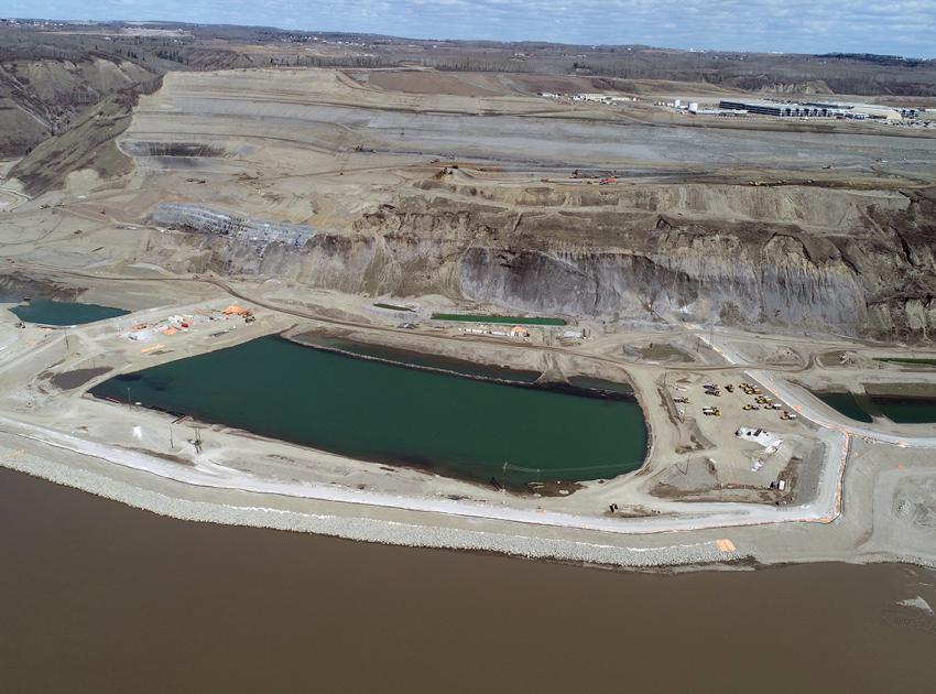 North bank inlet portal cofferdam and outlet portal cofferdam (May 2018)