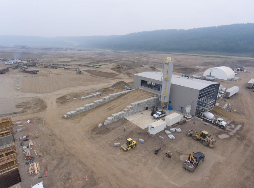 The GSS civil works batch plant and crusher (August 2018)