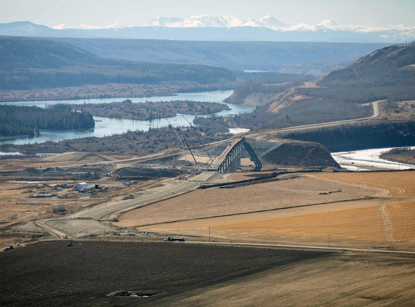 The Halfway River segment of Highway 29 is currently under construction. The segment will be three kilometres long, with a new one-kilometre-long bridge. (April 2021)