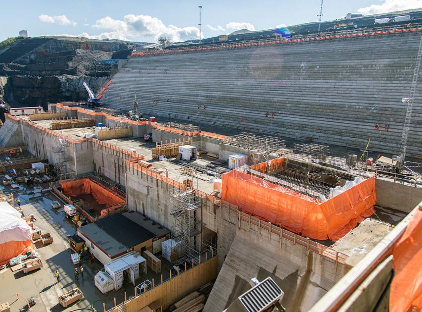 Powerhouse construction area (September 2018)