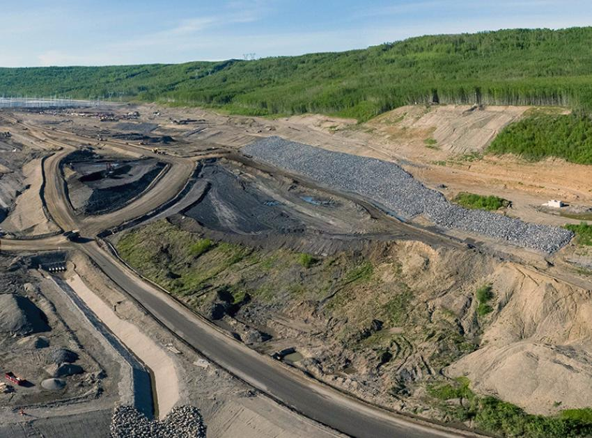 Constructing the approach channel at Site C requires moving seven million cubic metres of soil and rock. (May 2021)