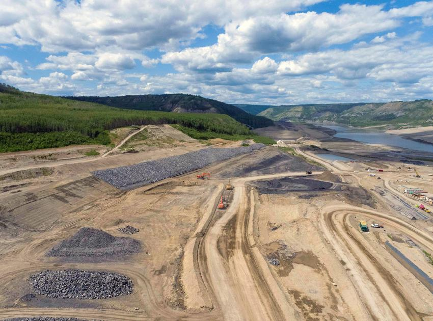Site C's approach channel covers approximately 390,000 square metres. It is about one kilometre-long and 400 metres wide. (June 2021)