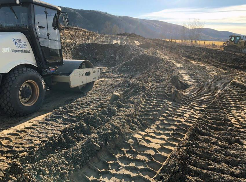 Start of highway realignment work at Cache Creek West (October 2018)