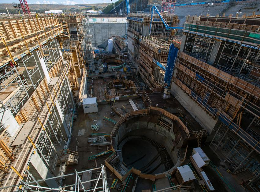 These large openings are called draft tubes. After the water passes through the turbines, it will flow through these passages into the tailrace and back into the river. (September 2019)