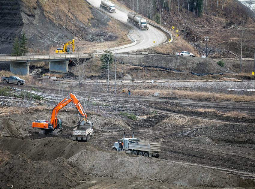 Construction has begun on the new section of Highway 29 at Farrell Creek. (November 2020)
