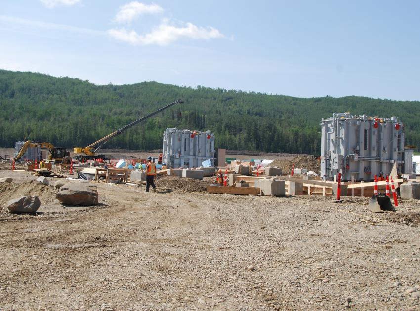 Transformer assembly at the substation site (August 2018)