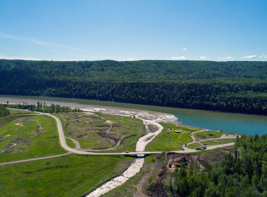 Highway 29 realignment work at Lynx Creek. (June 2020)