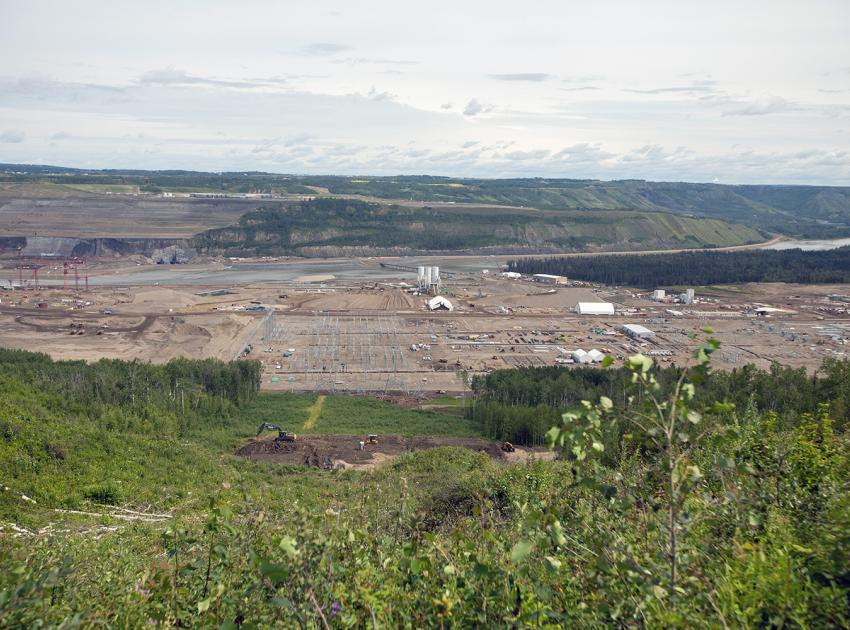 A panoramic view of the dam site from the top of the 500-kV transmission line right-of-way. (July 2019)