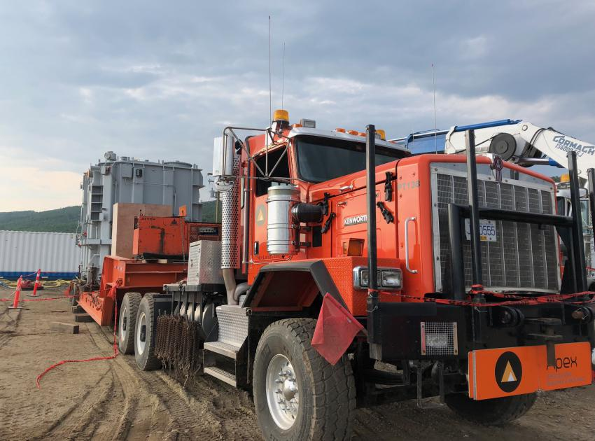 Transformer delivery to the substation (July 2018)