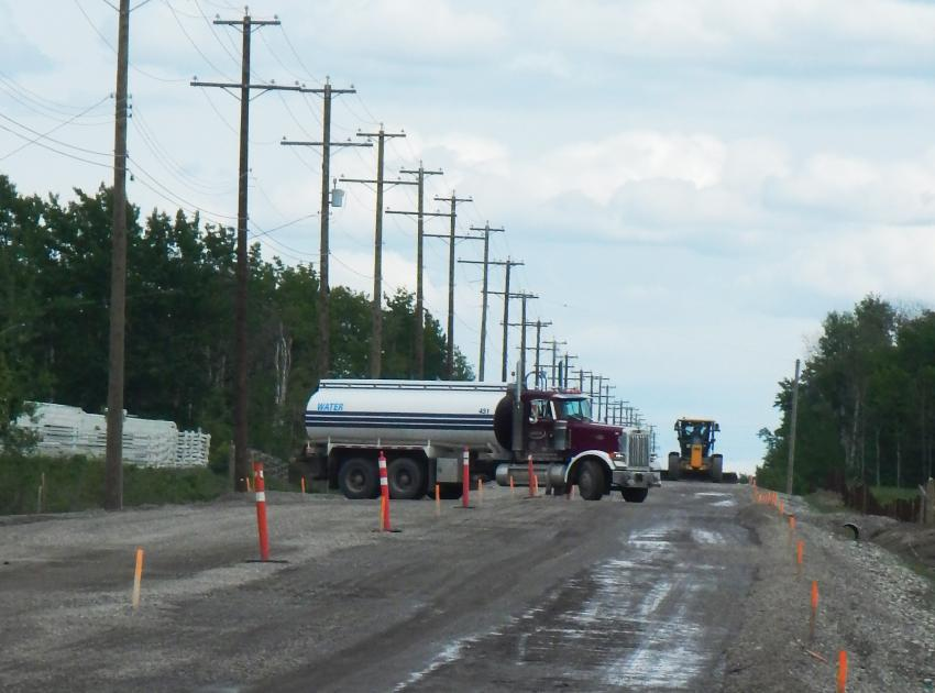 Upgrading continues on 240 Road. (May 2016)