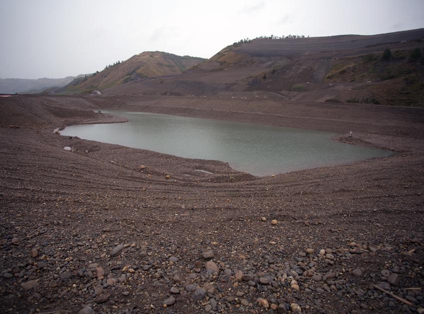 North bank sediment pond. (August 2017)