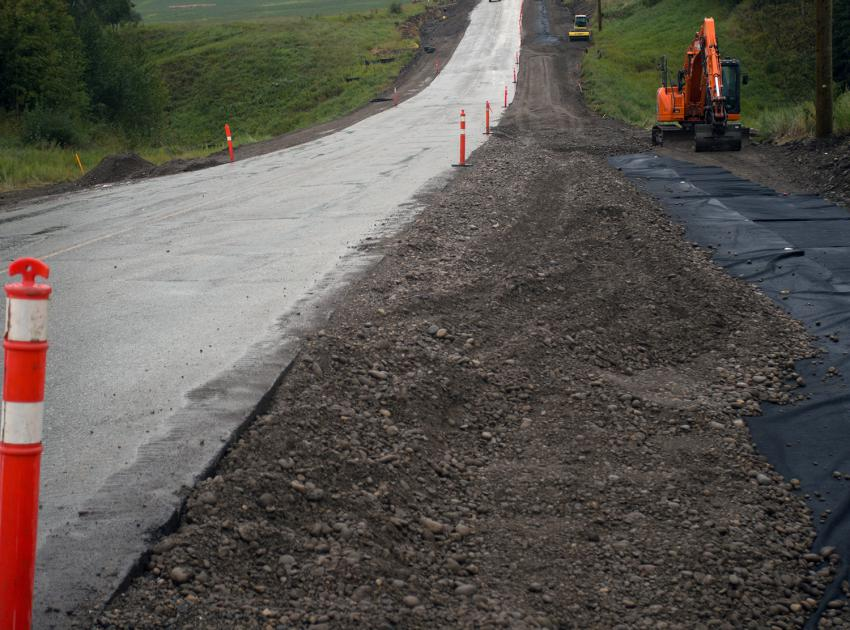 Road upgrades on 271 Road. (August 2017)