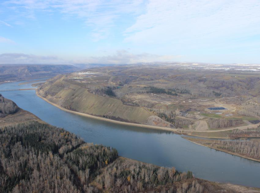 River Road downstream of dam site. (October 2016)