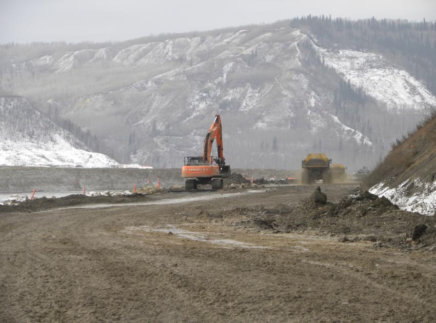 River Road construction. (February 2016)