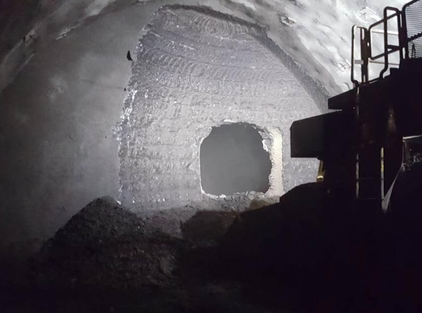 Diversion tunnel 2 breakthrough (July 2019)
