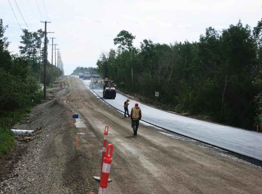 Upgrading continues on 240 Road. (June 2016)